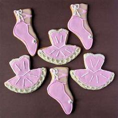 Pink Ballet Cookies |