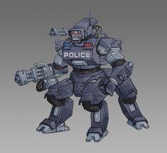Robot Concept Art, Concept Weapons, Overwatch Robot, Overwatch Skin Concepts, Character Concept, Character Art, Cyberpunk Rpg, Overwatch Wallpapers, Arte Robot