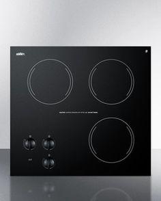 CR3240 - 230V three-burner cooktop in black ceramic glass, made in Europe
