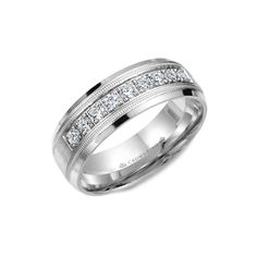 Stainless Steel Matte Finished Royal Princess Crown Flat Band Ring