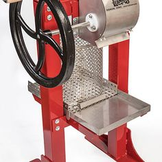 Lehman's Stainless Steel Cider Press, Fruit Presses - Lehman's Making Apple Cider, Apple Press, Cider Press, All Stainless Steel, Wooden Handles, Cast Iron, Coffee Maker, Traditional, Fruit