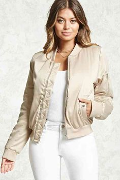 OMG I LOVE this petty FOREVER 21 Satin Bomber Jacket It's rad!  #fashion #style #shopping #outfits #ootd #onlineshopping #fall #jacket #bomber #bomberjacket #winterfashion #winter  #streetstyle #streetwear
