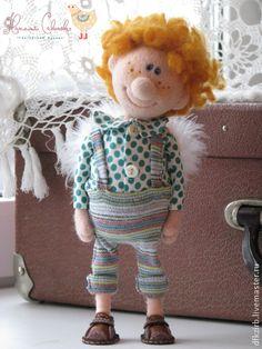 Коллекционные куклы ручной работы. Ярмарка Мастеров - ручная работа. Купить Тимошин ангел. Handmade. Кукла ручной работы, в горошек