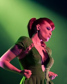Ana Matronic of the Scissor Sisters  (another sexy red with ink..)
