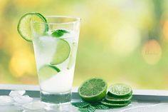 Beba água com limão