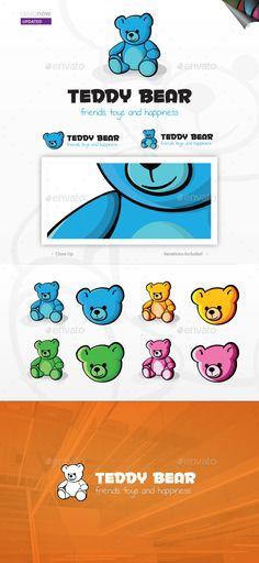 Teddy Bear Logo — Vector EPS #infant #cartoon • Available here → https://graphicriver.net/item/teddy-bear-logo/3568336?ref=pxcr