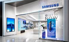 Samsung Experience Boutique Store in India - Custom Mobile Cell Phone Shop Interior Design