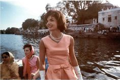 Jackie Kennedy, perpetually graceful, even while boating! A true American style icon.