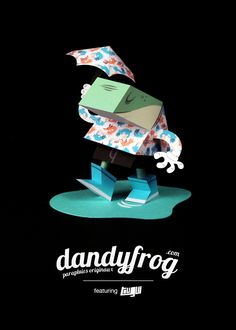 Dandy Frog Papertoy