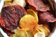 Chips de légumes racines { Betterave, radis noir et patate douce }à la poêle