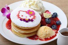 """写真はMoana Kitchen Cafe 有楽町イトシア店  「ハワイアン ハローキティ パンケーキ""""ベリー&ベリー""""」"""