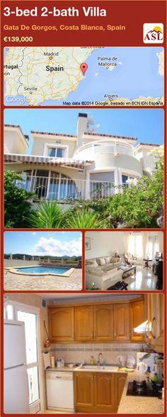 3-bed 2-bath Villa in Gata De Gorgos, Costa Blanca, Spain ►€139,000 #PropertyForSaleInSpain