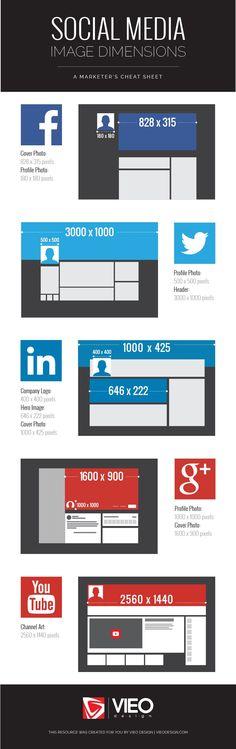 2016 Social Media Sizes Infographic