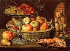 Clara Peeters(1594–1657) Still life with silver-gilt tazza DateUnknown dateMediumoilonpanelDimensions34.1 × 46.8 cm (13.4 × 18.4 in)Current locationPrivate collection