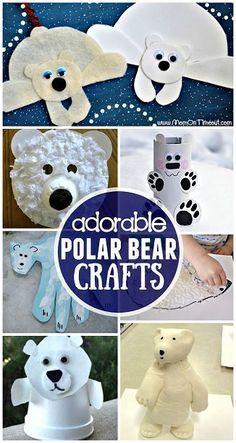 Winter Polar Bear Crafts for Kids to Make | http://CraftyMorning.com