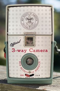 The Offical 3-Way Boy Scouts Camera was originally manufactured by the Herbert George Company of Chicago Illinois in the 1950s