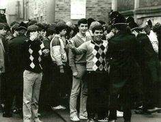 football casuals… golf wear and faded jeans to the fore Football Casuals, Football Fashion, Uk Culture, Youth Culture, Bane Of My Life, Sergio Tacchini, Youth Subcultures, Acid House, Teddy Boys