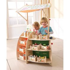 Maxim EverEarth Farmers Market Stand with Accessories Image Market Stands, Market Displays, Play Grocery Store, Dramatic Play, Pretend Play, The Fresh, Kids Furniture, Mini, Shopping