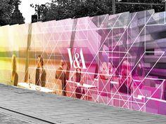 V&A museum construction hoarding concept by Wade Veldsman, via Behance