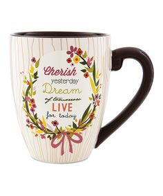 Pavilion Gift Company 40013 Words to Breathe By Ceramic Mug Cherish Dream Live >>> More info could be found at the image url. Ceramic Tableware, Ceramic Bowls, Dream Live, Quirky Quotes, Thoughtful Gifts, Coffee Mugs, Ceramics, Words, How To Make