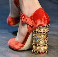 Byzantine heeled ankle-strap pumps. Dolce & Gabbana Fall 2013 Footwear. Art on foot.