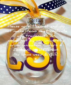 Louisiana State University Tigers FootBells Christmas Ornament ...