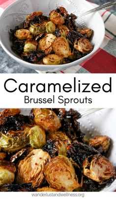 With a sweet and tangy sauce, these honey caramelized brussel sprouts are an easy gluten-free vegetable side dish recipe. They bake in under 30 minutes and are full of flavor. If you're not sure if you like brussel sprouts, give these a try because they won me over! #glutenfree #glutenfreesidedish #brusselsproutsrecipe #vegetablesidedish