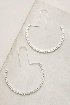 Anthropologie Half Moon Hoop Earrings