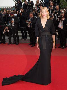 Cate Blanchett en robe Armani Privé de la collection printemps 2015 à la premièredu film Sicario pendant la 68ème cérémonie du Festival de Cannes