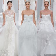 Our editor's top #wedding dress picks from Monique Lhuillier Spring 2015 #Bridal Collection. #editorspicks #weddingdresses #topweddingdresses