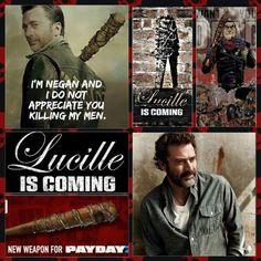 Negan is bringing Lucille - TWD Walking Dead Funny, Walking Dead Girl, Walking Dead Season, Fear The Walking Dead, Negan Lucille, Lucille Twd, Dead Images, Talking To The Dead, Dead Zombie