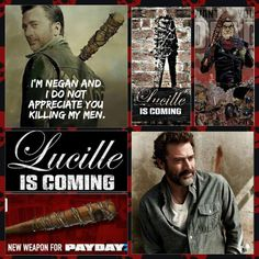 TWD season 6 - Neagan and Lucille. AMC's The Walking Dead. Finally!!!!