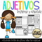 Adjetivos (Adjectives Print & Learn)