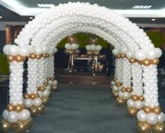 Wedding arch baloon arches 1001 wedding arch with ivy books archway off corinthian columns junglespirit Images