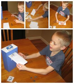 Relentlessly Fun, Deceptively Educational: Postage Paid (a Coin Counting Activity) Counting For Kids, Counting Coins, Counting Money, Counting Activities, Kid Activites, Early Learning, Kids Learning, Work On Writing, Math About Me