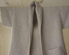 Tricoter un gilet fille 8 ans explications du gilet - Point de ble au tricot ...