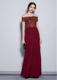 169c50cd785 Marvelous Sequin Off-the-shoulder Neckline Sheath Column Evening Dresses  Prom Dresses 2019. Custom Made ...