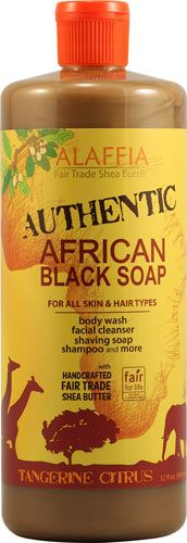 Alaffia African Black Soap For All Skin and Hair Types Tangerine Citrus -- 32 fl oz - Vitacost