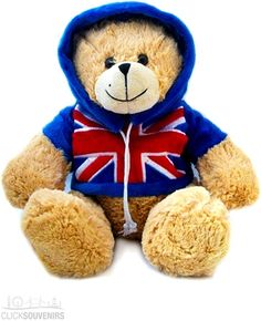25cm Large Union Jack Teddy Bear