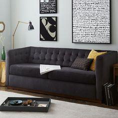 Rochester Sofa #westelm In gorgeous performance velvet fabric <3