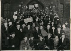 1949 Press Photo Students Demonstrate Before A Montreal School | eBay