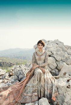 Pakistani couture by Chinyere Pakistani Couture, Pakistani Bridal, Indian Bridal, Pakistani Wedding Outfits, Pakistani Dresses, Bridle Dress, Indian Fashion, Brown Fashion, Women's Fashion