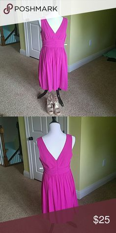 NWT Trina Turk Beautiful Fuscia Dress. Perfect condtion.  Reposh.  Sadly doesn't fit.  I got this for a steal and selliing at the same price.  Gorgeous dress.   Perfect for summer wedding. Cotton and fully lined. Runs small.  More like an 8-10 Trina Turk Dresses
