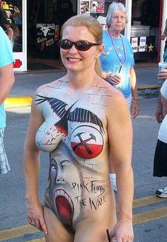 Pink Floyd body paint, Fantasyfest