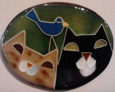 Hand-crafted fine silver wire kiln fired to copper with colorful glass enamels. $38 by Cloisonne Art in the crafts market.