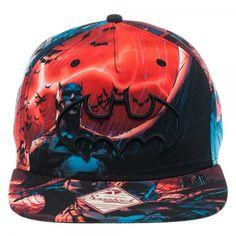 Batman Multi Color Sublimated Snapback Gorras Planas f9b068b7f82
