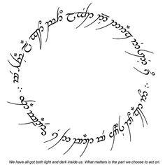the one ring elvish writing Ring Tattoos, Body Art Tattoos, New Tattoos, Cool Tattoos, Band Tattoo, Tatoos, Elven Words, Elvish Tattoo, Tolkien Tattoo