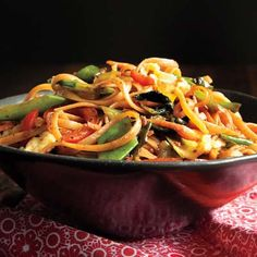 Vegetable-Noodle Stir-Fry (30 minute meals)