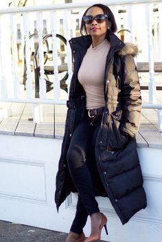 Winter Time Chic: Maxi Down Coat via @spoonsstilettos
