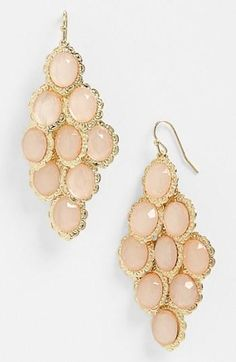 Stunning! Peach Chandelier Earrings